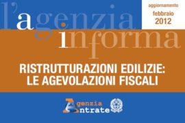 Ristrutturazioni edilizie : le agevolazioni fiscali